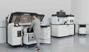 Man using HP 3D 5200 Printer Series
