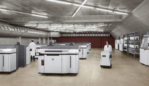 Room full of HP 3D 5200 Printer Series