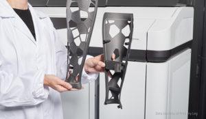 Prosthetic leg cover made using HP 3D 5200 Printer Series