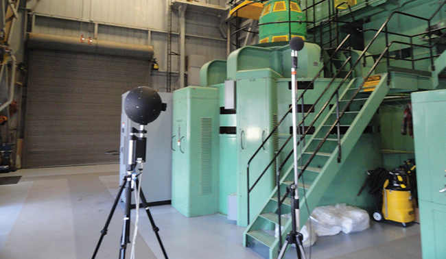 Spherical microphone in a power plant
