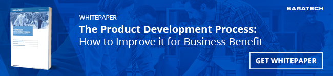"Saratech's ""The Product Development Process: How to Improve it for Business Benefit"" whitepaper"