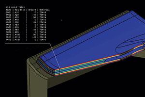 Screenshot of fibersim for design