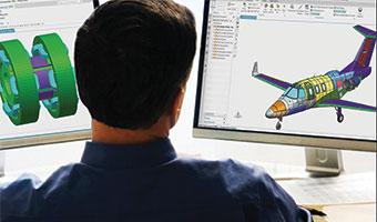 Man reviewing cae files