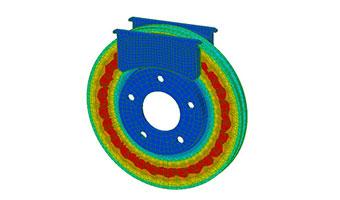 brake model showing thermal analysis